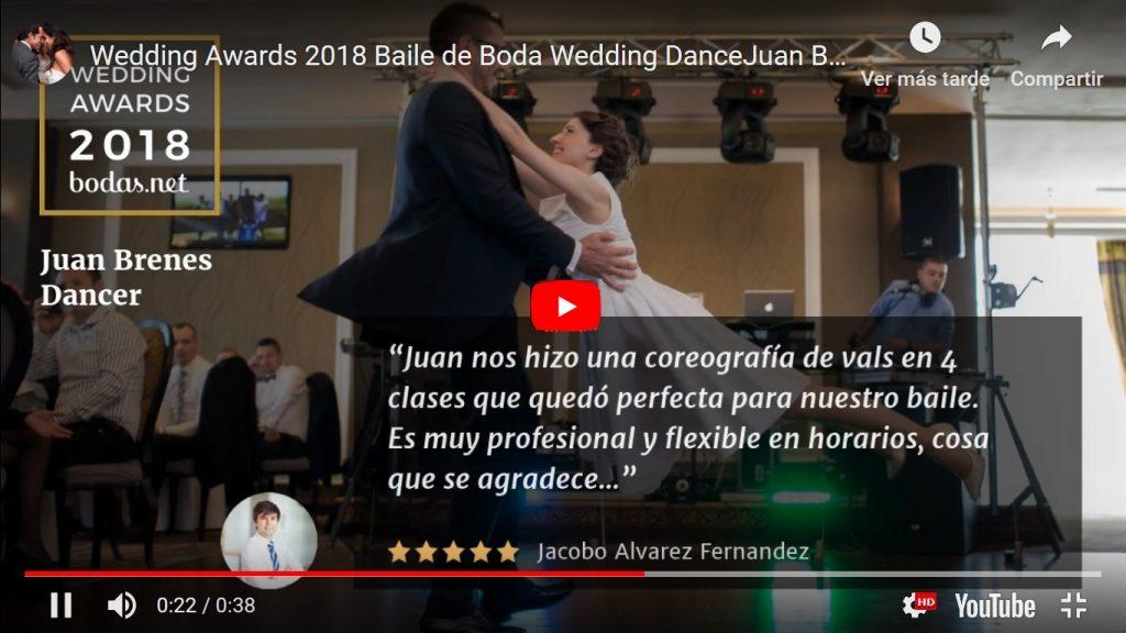 Baile de Boda Madrid Baile de Novios Madrid Baile Nupcial Madrid Juan Brenes Dancer