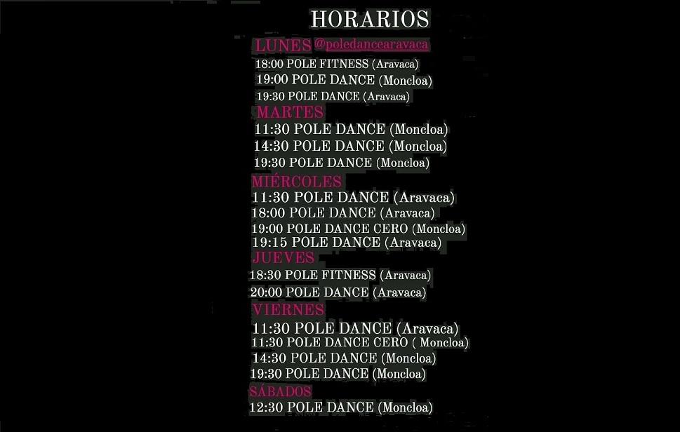 Horarios Clases Pole Dance Pole Fitness Madrid Centro Moncloa Arguelles Pozuelo Aravaca Laura Holt Dancer Pole Dance Jazz 2 1